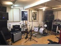 Band Rehearsal Room, Recording Studio Available Tues, Weds, Friday evenings near Old Street
