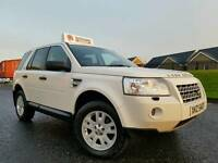 (WHITE) July 2009 LandRover Freelander 2 2.2 Td4 E Xs Stop/Start (SAT-NAV) Heated Leather! FSH!