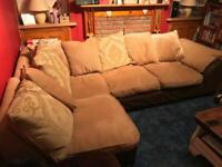 CORNER SOFA,2 SEAT SOFA AND FOOTREST FOR SALE!!