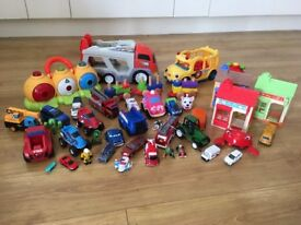 Large bundle of children's toys