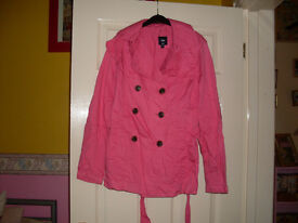 LOVELY BRIGHT PINK COAT-SIZE 10-12