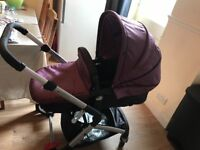 Pushchair travel system. Mothercare roam in aubergine