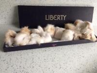Karl Donoghue Rabbit Fur pom pom scarf