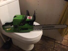Gardentec 18 inch cut petrol chainsaw
