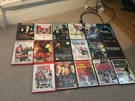 Range of dvds.