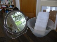 Beauty Party Pamper set - 8 x Mirrors, bowls & flannels