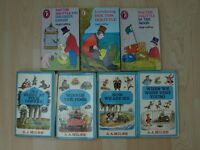 A collection of 7 Children's paper back books by Hugh Lofting and AA Milne
