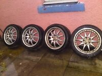 """5 stud 17"""" alloy wheels (were on ford)"""