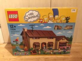 Brand new sealed Lego Simpsons House, with a complete set of both series 1 & 2 Simpsons Minifigures,