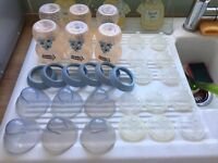 Tommee Tippee Closer To Nature Blue Baby Bottles With Size 1 & 3 Teats