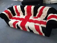 Brand New UK Flag Fabric 3 Seater Sofa (FREE LOCAL DELIVERY!!)