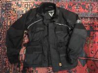 Ladies women's bike motorbike jacket black