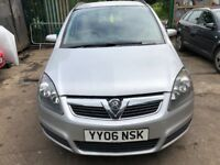 2006 Vauxhall Zafira Club Mpv 1.6 Petrol Silver BREAKING FOR SPARES
