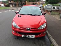 PEUGEOT 206 MANUAL 1.4 WITH BRAND NEW MOT TILL AUGUST 2019