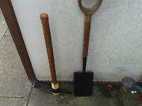 adze + spade