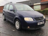 VOLKSWAGEN TOURAN S 1.6 2004 7 SEATER MINT COND GREAT FAMILY SIZE CAR HONDA SEAT VAUXHALL NISSAN