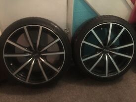 Low profil 17inch alloy wheels and tryed for sale