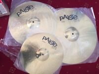"""Paiste 101 Brass Cymbal set (14"""", 16"""", 20"""") - New and unused"""