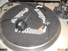 2 x prosound DJs turntables