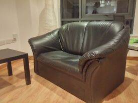 Leather Sofa/Couch & Armchair