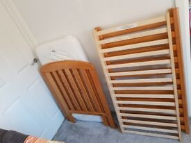 Cot with mattress for sale £30 ono