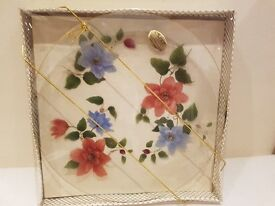 Chance Glass Floral Decorative Plate