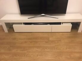 Modern TV Cabinet Black White Stand Unit High Gloss