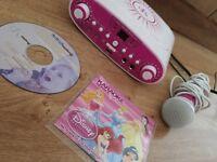 CHEAP Kids karaoke machine with 2 cd's CHEAP