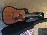 Guild d-120 solid mahogany acoustic guitar