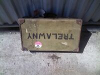 Old Retro Travel case Suitcase - £15 each or £20 for two