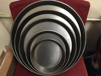 """NEW BLACK IRON 7 """" PIZZA PAN CATERING COMMERCIAL TAKE AWAY SHOP"""