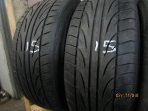 215/60R15 SET OF 4 USED FALKEN ON ALLOY RIMS FOR A KIA FORTE 2010