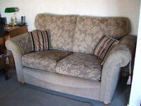2x 2 & half seater fabric sofas