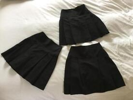 Black Henley style school Uniform skirts x 3