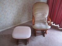Dutailer rocking chair & rocking foot stool