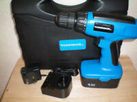 power base cordless drill & case