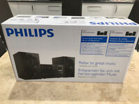 Philips BTM1360 Mini Stereo System CD Player with Bluetooth - Brand New