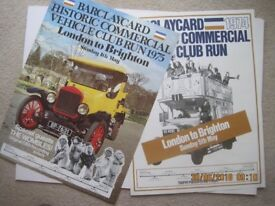 Barclaycard Historic Commercial Vehicle Club Run Posters 1974 & 75.