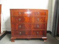 LARGE VINTAGE MAHOGANY FIVE DRAWER CHEST OF DRAWERS FREE DELIVERY
