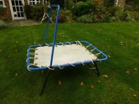 Child's trampoline with safety handle. Suit ages 2 - 7 years.