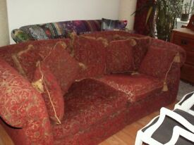 LARGE SOFA WITH CUSHIONS..