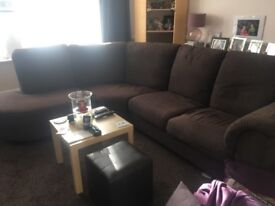 Brown corner sofa from Ikea, excellent condition, comes in 3sections for easy collection