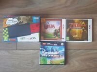 'New' Black Nintendo 3DS Console Bundle With Games, Case and Charger