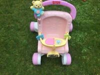 Baby Walker Fisher Price princess Pink