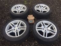 "4 x 17"" AMG Mercedes Benz Alloys & Michelin Winter Tyres 225/45R/17"