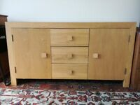 Wooden drawer cabinet cupboard storage. good condition. collection only. £100 ono