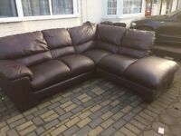 Real leather corner sofa in good condition