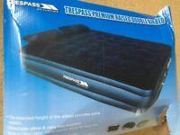Trespass Double infatable air bed - built in air pump
