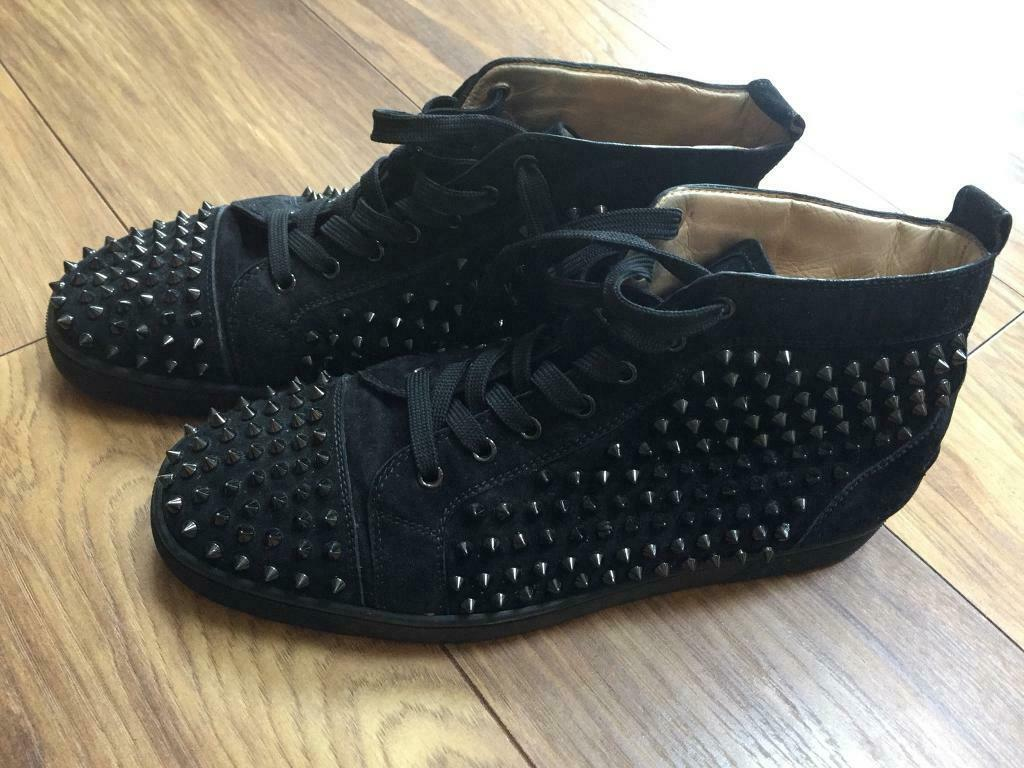 brand new 80b0d 93c5f Christian louboutin Louis orlato flat velour spikes | in Linthwaite, West  Yorkshire | Gumtree
