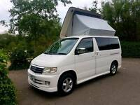 MAZDA BONGO 4 BERTH CAMPERVAN WITH JAL SPACESHIP SIDE CONVERSION! V6 PETROL, WITH MUSHROOM ROOF!